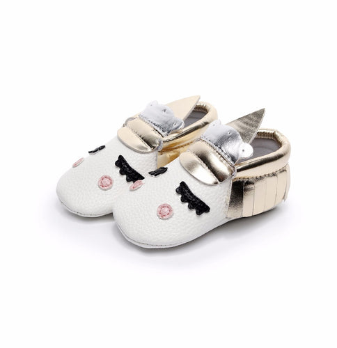 BLUSH UNICORN  handmade baby shoes - Carrie Co Baby