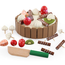 Wooden play cake