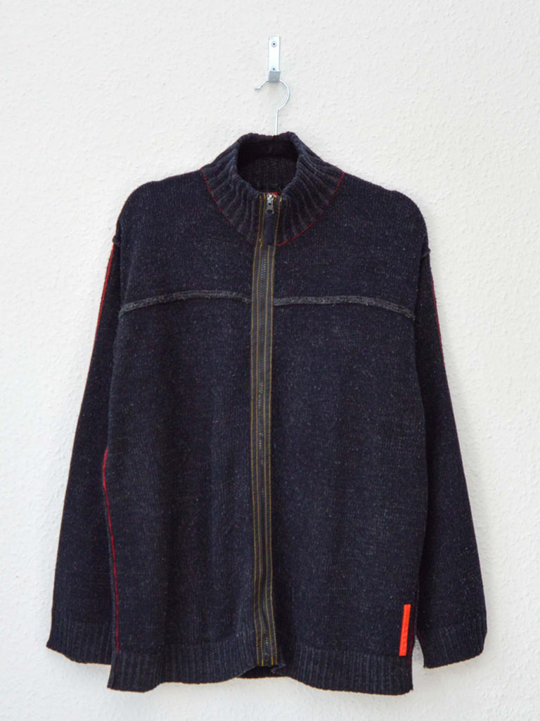 90's Prada Zip-Up Sweater (XL)