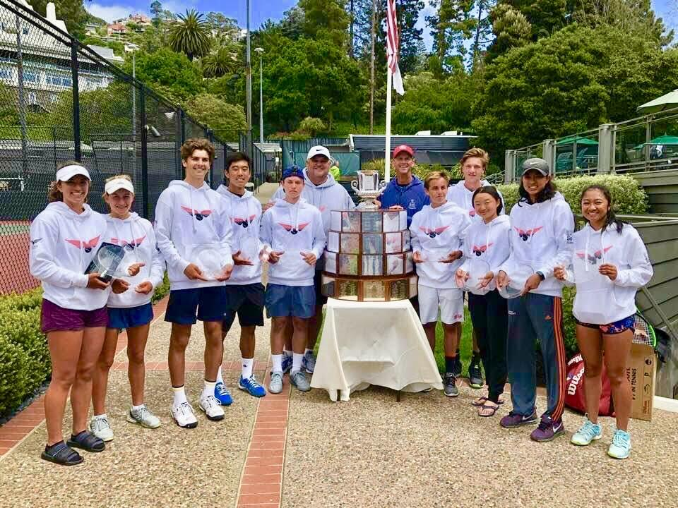 SO CAL Team Shines wearing TennisPower at MAZE CUP 2018