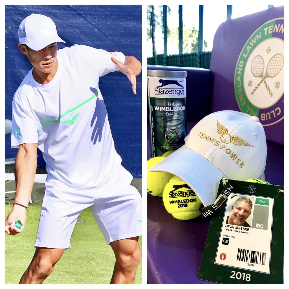 TennisPower Sponsored ATP TOUR player Jason Jung at Wimbledon