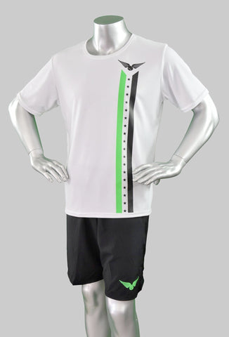 Cali Stars and Stripes Shirt - Green/Black Stripe - Adult