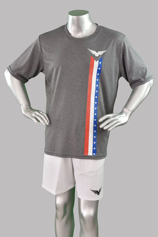 Cali Stars and Stripes Shirt - Red/White/Blue Stripe - Youth