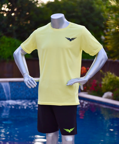 US Open Coronado Shorts - Black/Yellow - Mens