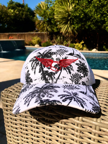 Crush It Cap - Black & White Tropics