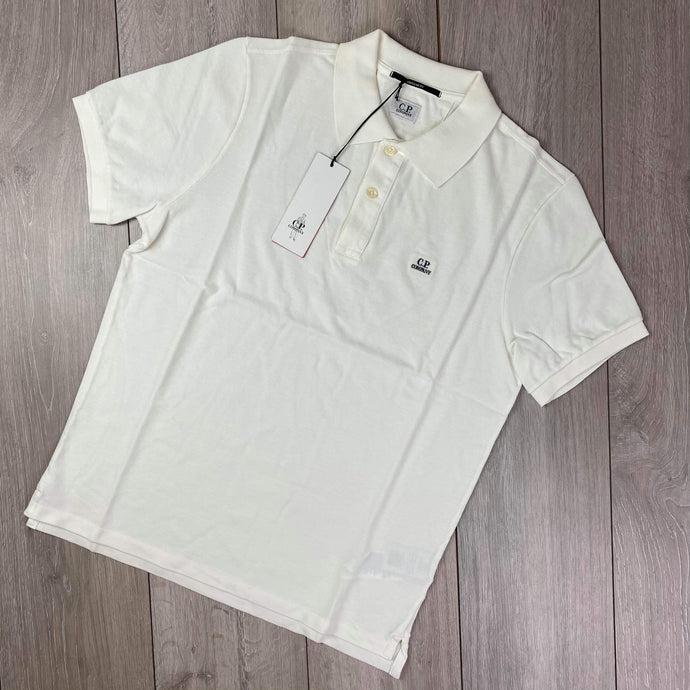 CP Company White Polo Shirt