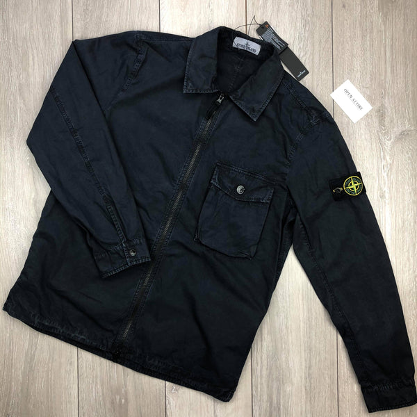 Badge Zip Overshirt