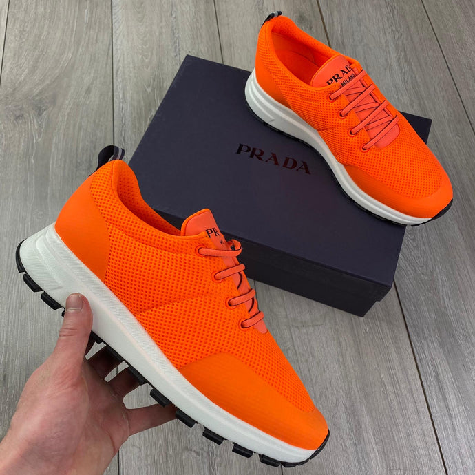 Prada Orange Sneakers
