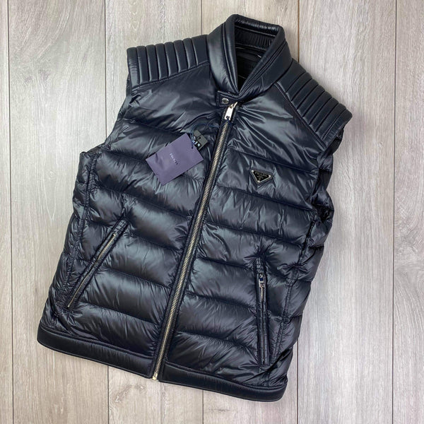 Ribbed Down Gilet