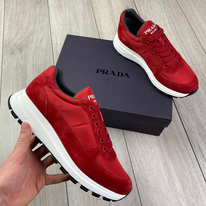 Prada Red Sneakers