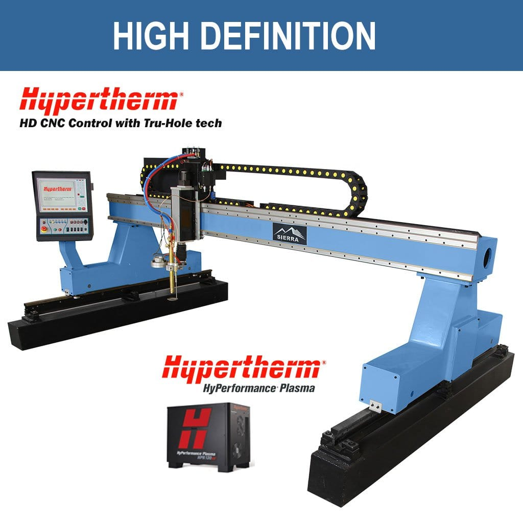 HD Plasma Cutter - Sierra LPT-2500x4000 with Hypertherm Edge CNC Controller and True Hole Technology