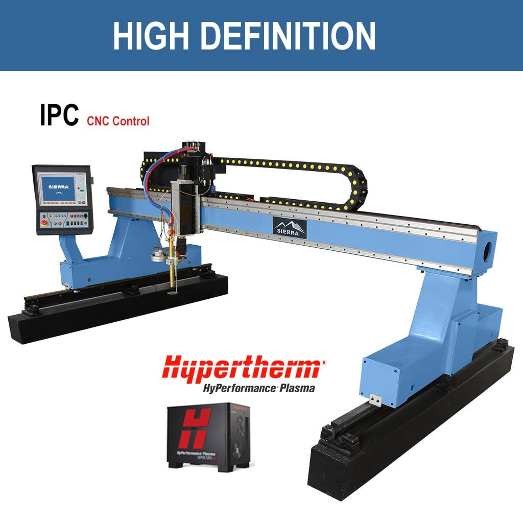 High Definition Plasma Cutter - Standard LPH 2500x10000 with IPC CNC Controller