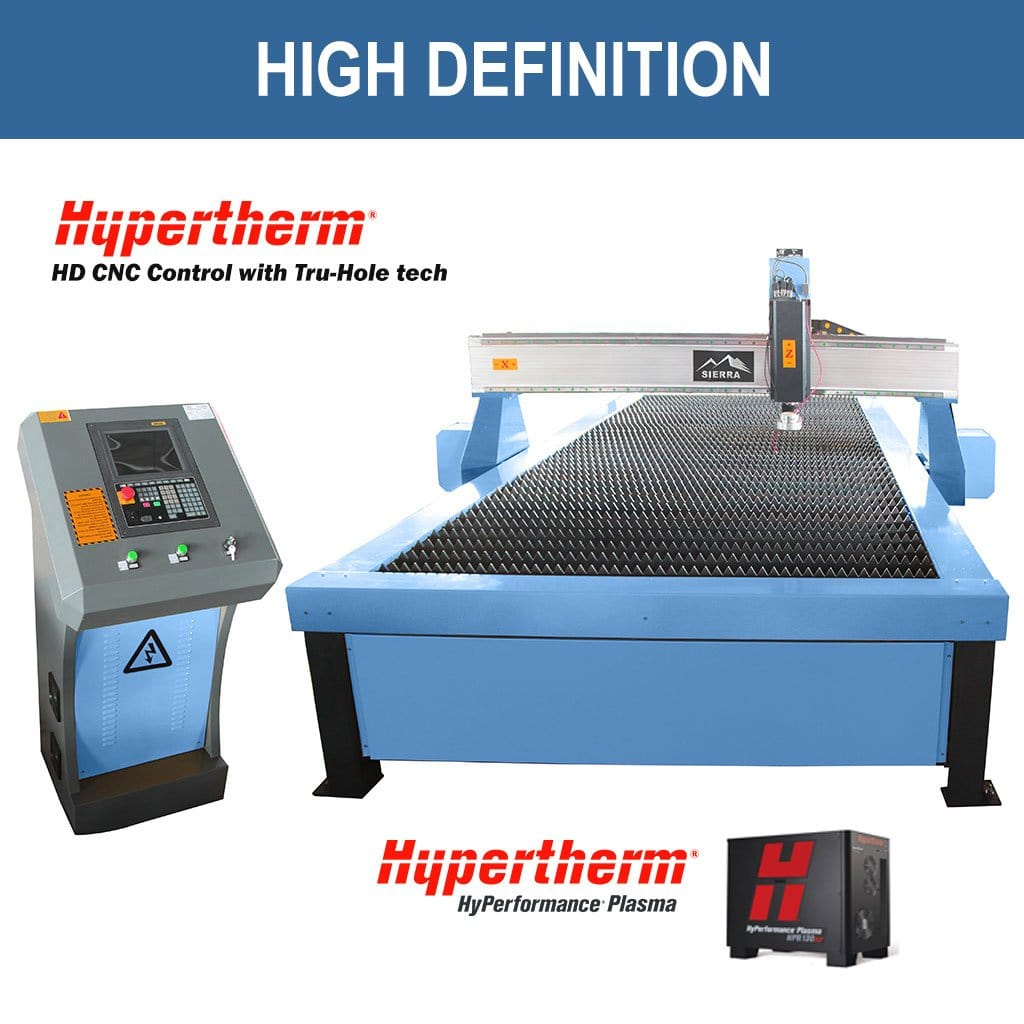 High Definition Plasma Cutter - Standard LPT-2000x2500 with Hypertherm Edge CNC Controller with True Hole Technology