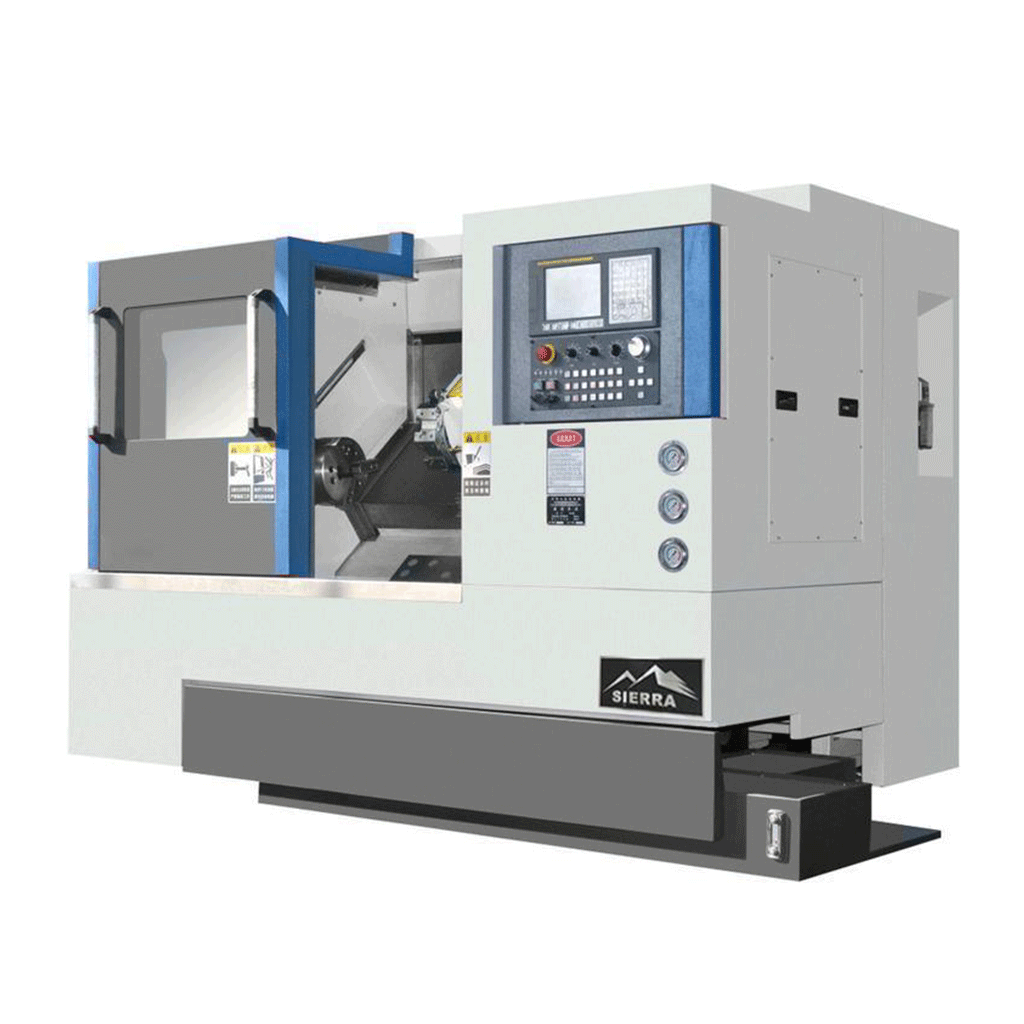Slant Bed CNC Lathe - Standard ESA-360x750 with Chip conveyor and Hydraulic Chuck