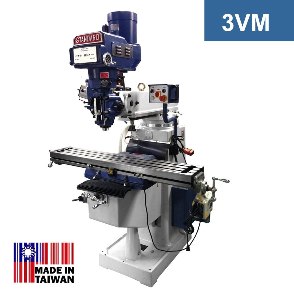 Standard Turret Mill - 3VM with 3HP Motor (R8 Spindle)