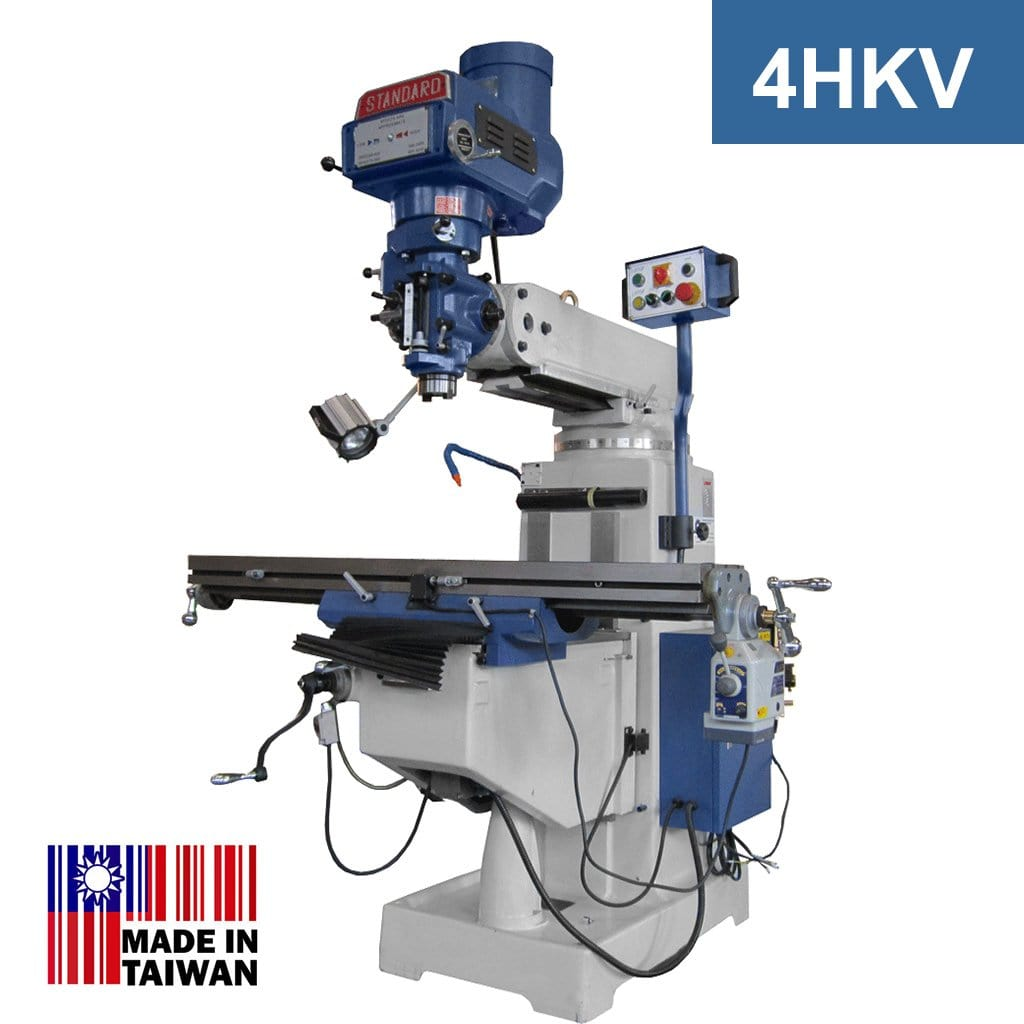 Standard Turret Mill - 4HKV with 3HP Motor (ISO40 Spindle)