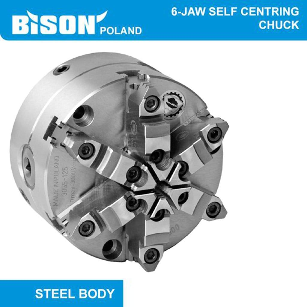 Bison Poland 3865 6-Jaw Self-Centring, Direct Fitting(Camlock) Bolt On Jaws, Chuck 2-sets of Jaws
