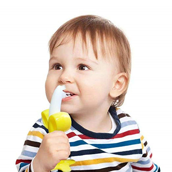 Baby Banana Infant Training Toothbrush and Teether(Buy one get one free!!!)