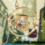 High quality Harry Potter Time Turner Hourglass Necklace Spins