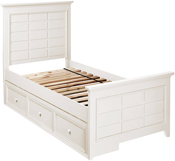 Bailey Twin Panel Bed - Bright White