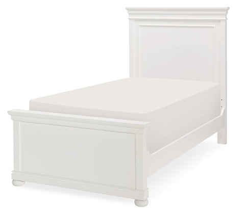 Canterbury Twin Panel Bed - White