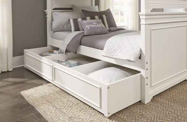 Canterbury Twin Sleigh Bed - White
