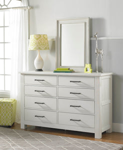 Lucca 8 Drawer Dresser - Sea Shell White