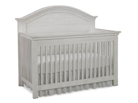 Lucca Full Panel Convertible Crib - Sea Shell White