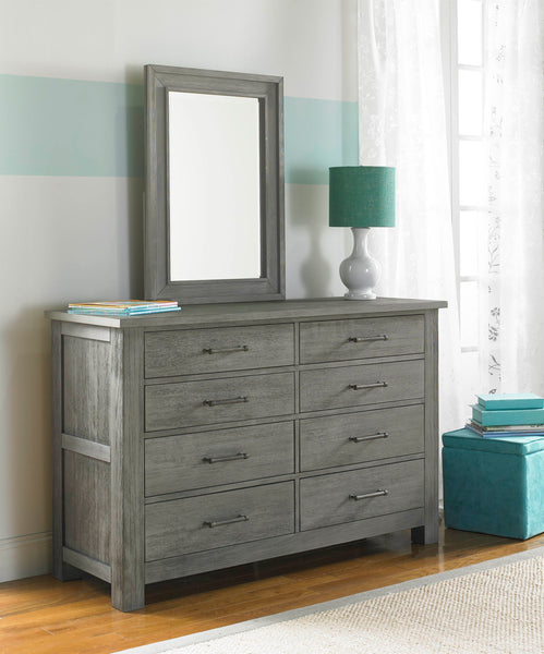Lucca 8 Drawer Dresser - Weathered Grey