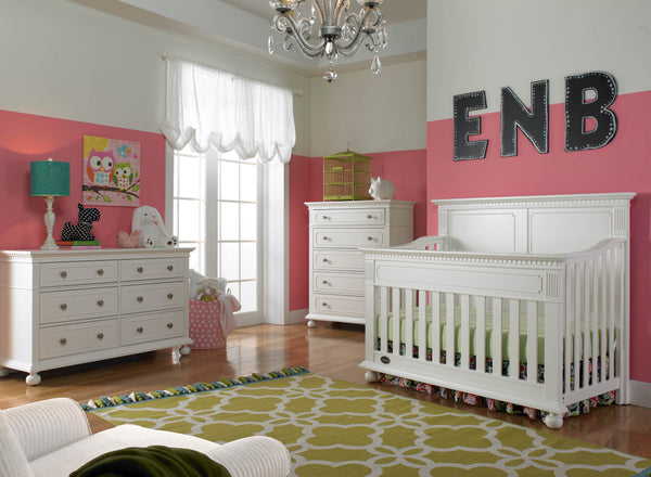 Naples 5 Drawer Chest - Snow White