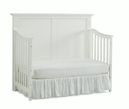 Naples Full Panel Crib - Snow White