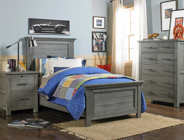 Lucca Twin Bed - Weathered Grey