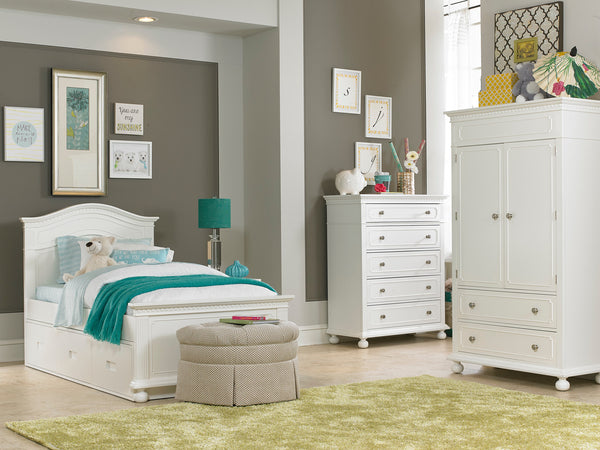 Naples Twin Bed - Snow White