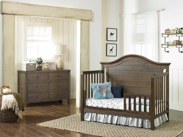 Catania Convertible Crib - Weathered Brown