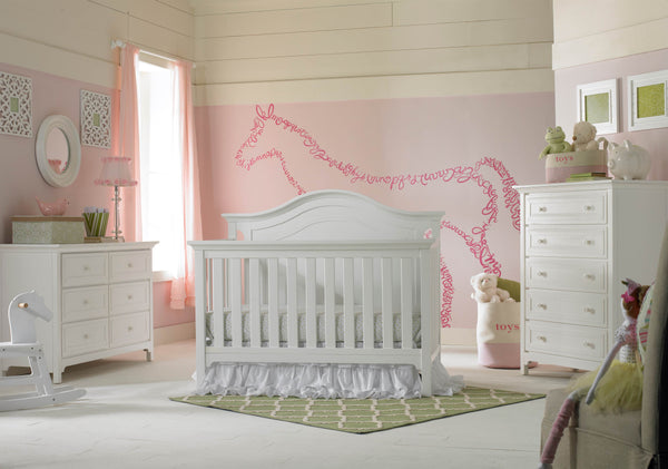 Catania Convertible Crib - Snow White