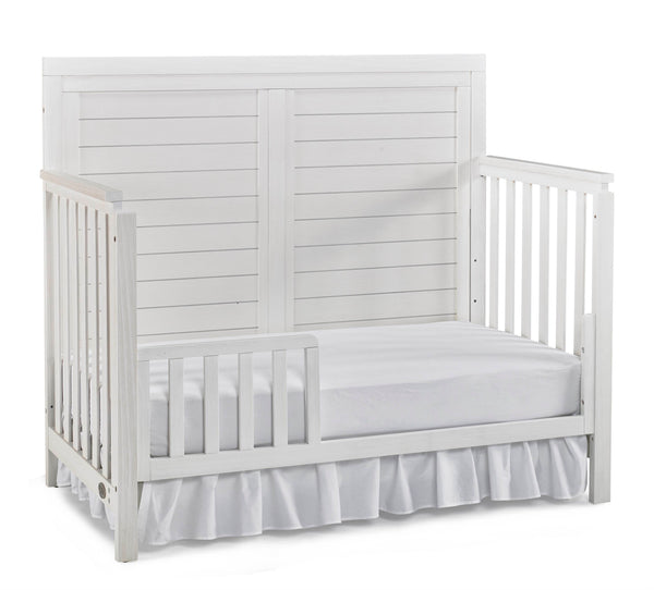 Castello Full Panel Crib - Sea Shell White