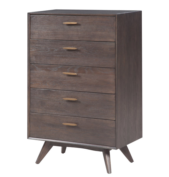 Loft Wooden 5 Drawer Chest