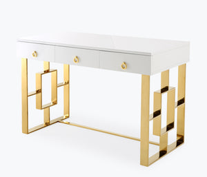 Audrey Desk - White Lacquer