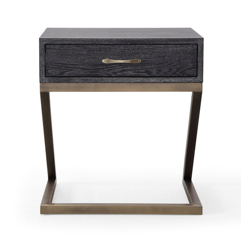 Mason Black Nightstand