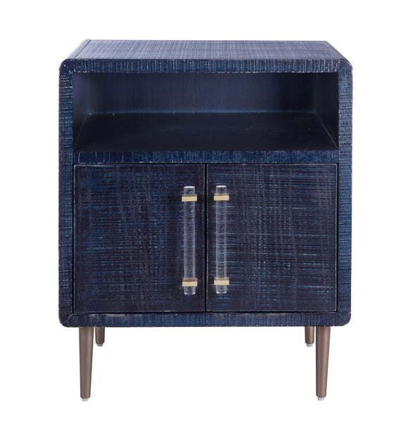 Marco Lacquer Indigo Nightstand
