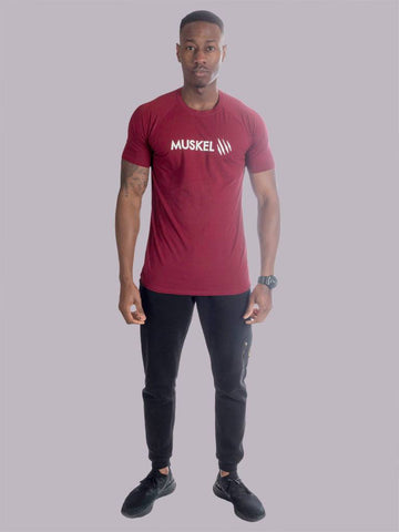 PASTEL Wine Red Muscle T