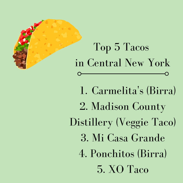 Top 5 Tacos in Central New York