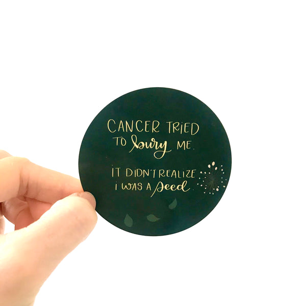 CanPlan Motivational Cancer Sticker