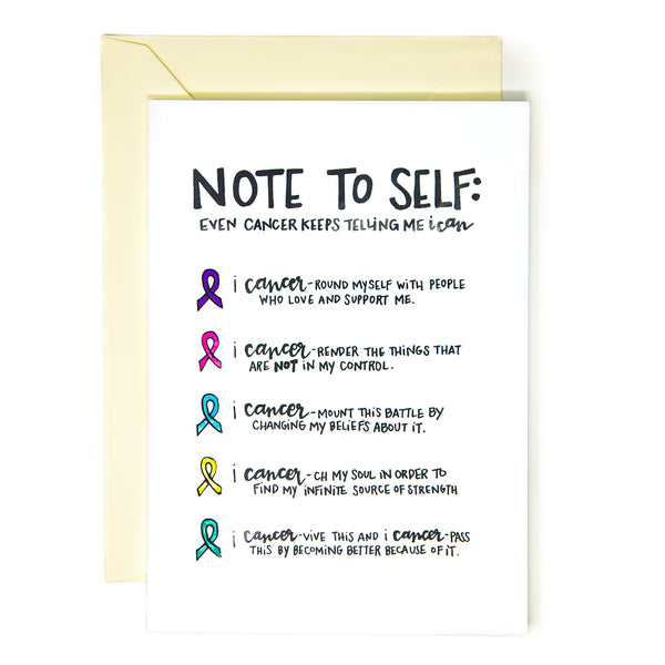 Positivity Cancer Card You Can And You Will