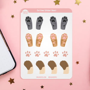 Cat Paws Planner Sticker Sheet