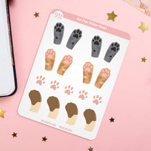Load image into Gallery viewer, Cat Paws Planner Sticker Sheet