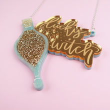 Load image into Gallery viewer, Lucky Witch Acrylic Necklace