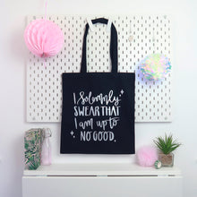 Load image into Gallery viewer, Up To No Good Tote Bag Black