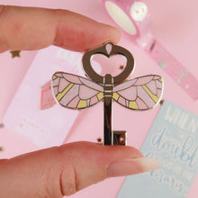 Load image into Gallery viewer, Pink Key Enamel Pin