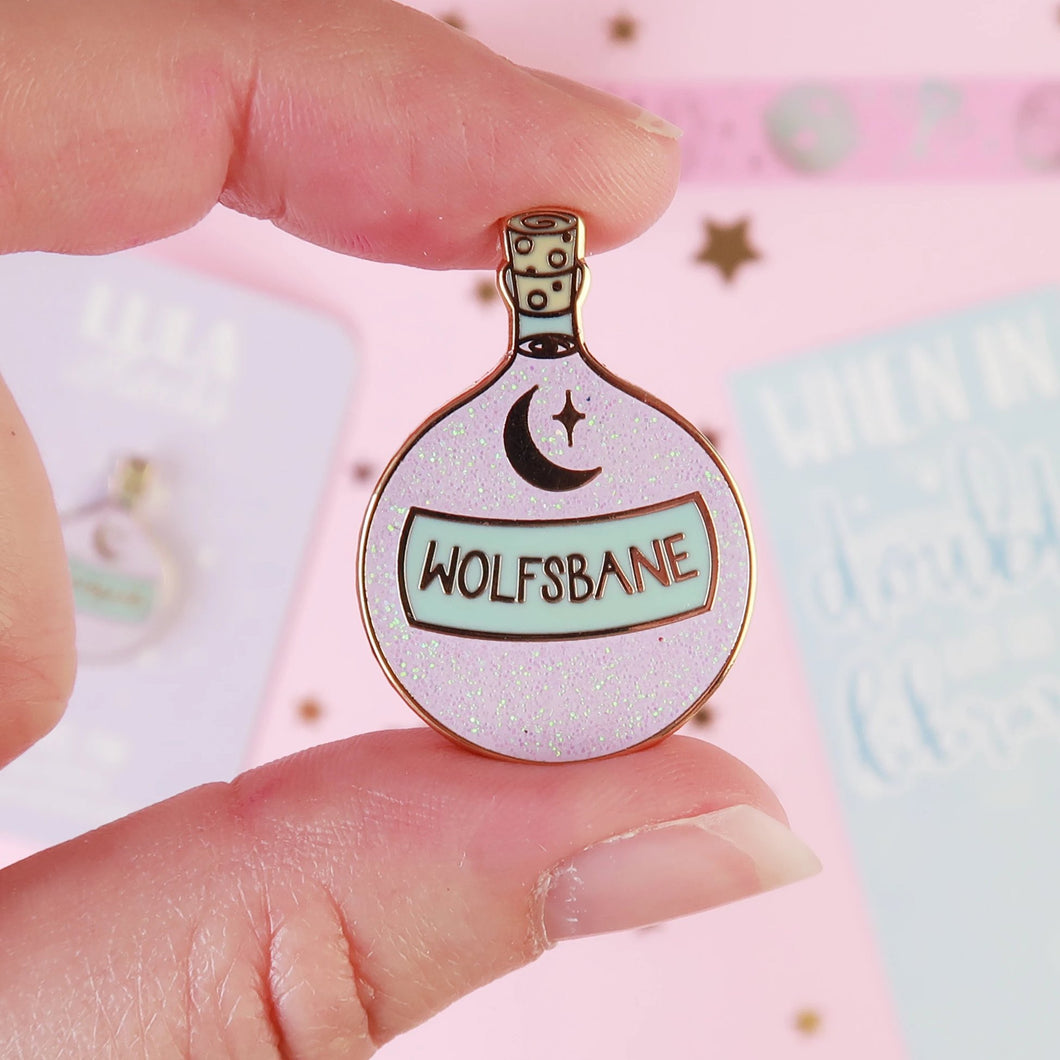 Wolfsbane Enamel Pin
